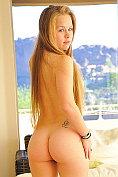 Madison Chandler strips naked to masturbate