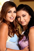 Mandy Sky and Natasha Malkova have lesbian sex together