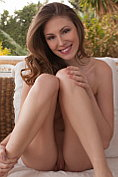 Beautiful Karen K takes off her bra and knickers