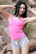 Beautiful babe Araya Acosta masturbates outdoors