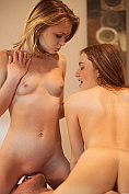 Dakota Skye and Samantha Hayes share a cock