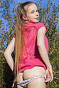 Milena D shows off her body outdoors