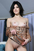 Horny babe Elizabet visits in a sexy mini dress with no bra and no knickers