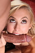 Slim blonde Alexa Grace pleasures a cock