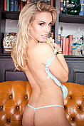 Hannah Martin showing off in her new lingerie
