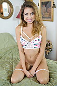 Melissa Moore takes off her knickers first