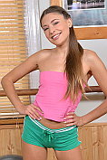 Petite teen Talia Mint turns her workout into a masturbation session