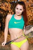 Stefany Sonri strips naked after playing badmington
