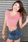 Cute teen Adria needs to pee