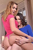 Lesbian babes Ani Blackfox and Sarah Highlight