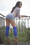 Chloe Lovette shows off outdoors