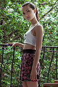 Slender teen Iva comes indoors and strips naked for us