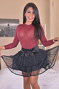 Buxom babe Kesha Ortega shows off in her sexy new outfit before masturbating