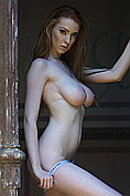 Alice Brookes strips naked for us down at the old house