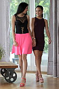 Apolonia Lapiedra and Foxii Black undress and have lesbian sex together