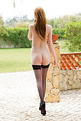 Alice Brookes takes off her dress and her knickers