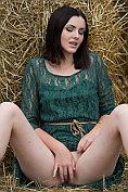 Cordoba takes off her dress and masturbates on the farm
