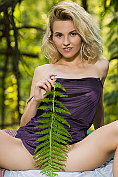 Zarina A teases and strips off in the woods