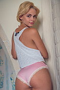 Fabulous blonde teen Lilit A undresses for us
