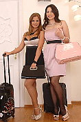 Black Angelica and Zafira have lesbian sex in their sexy tights
