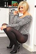 Hot blonde Naomi K strips off in the kitchen